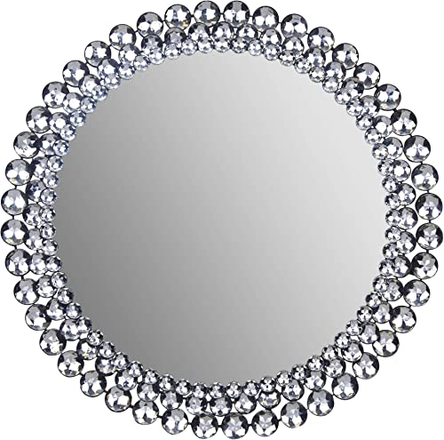 Everly Hart Collection Round Jeweled, 24 Mirrors, 24 x 24
