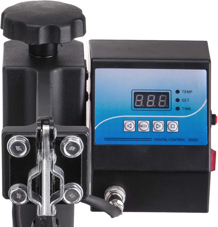BananaB Plate Press 20cm Heat Pressing Sublimation Machine 350W Transferpresse f/ür Platte 20 cm