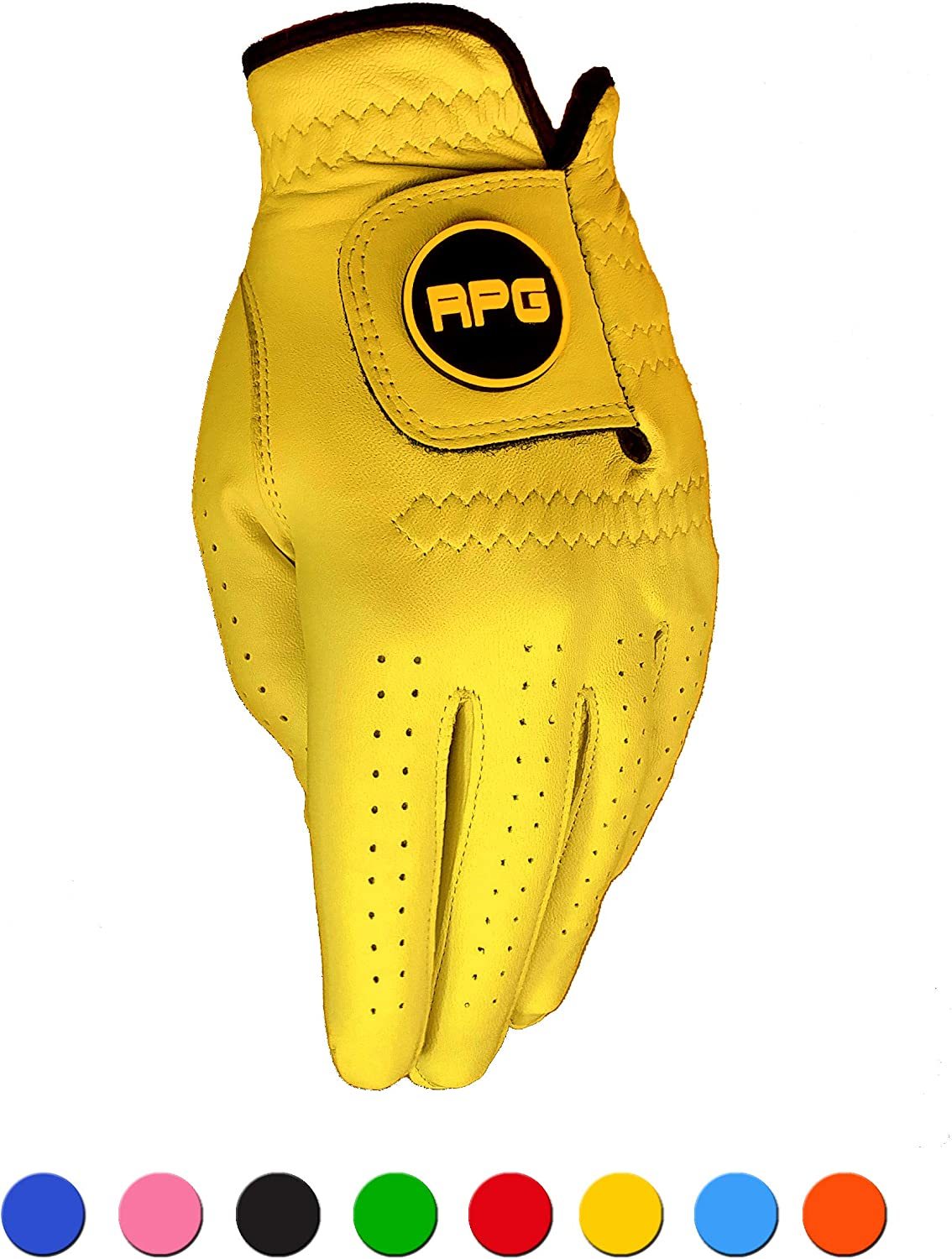 RPG Color Golf Gloves 100 AA CABRETTA Leather-Men s Worn on Left Hand -Match Colors with Your Golf Shirt, Golf Pants, Golf hat, Golf Bag, Golf Brush, Golf Towel, Golf tees
