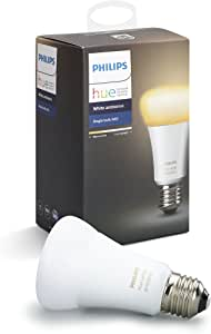 Philips Hue White Ambiance E27 Single LED Smart Bulb, Zigbee Compatible, Works with Alexa & Google Assistant – A Certified for Humans Device