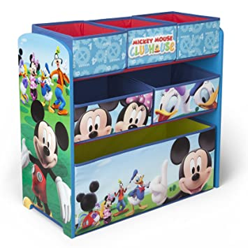 Amazon.com : Delta Children Mickey Mouse Clubhouse Multi Bin ...
