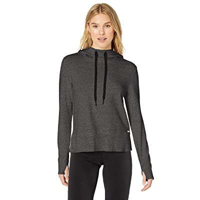 Essentials Women's Studio Terry Long-Sleeve Convertible Hood Shirt: Clothing