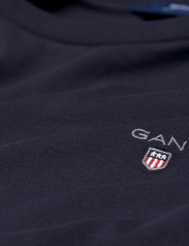 Gant Mens Solid Ls T-Shirt Long Sleeve Long Sleeve Top