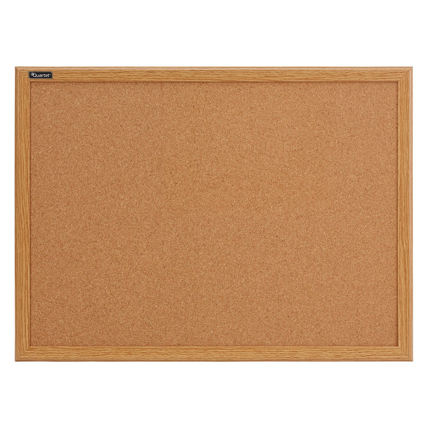 Quartet Cork Bulletin Board, 17 x 23 Inches, Oak Finish Frame (85212B)