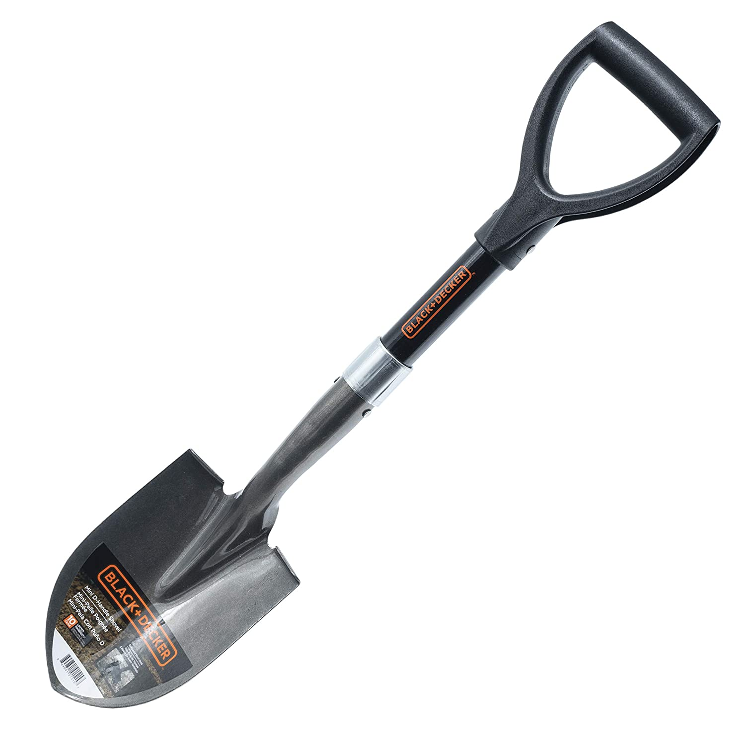 BLACK+DECKER BD1515 D-Handle Mini Garden Shovel, 26 in. Black