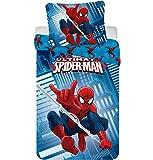Jerry Fabrics JF0210Parure de lit Spiderman 2016 en microfibres, 140x 200cm + 70x 90cm