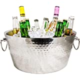 BREKX Stainless-Steel Double-Walled Insulated Beverage Tub for Ice and Drinks, Beverage Chiller for Parties - 3 GALLONS…
