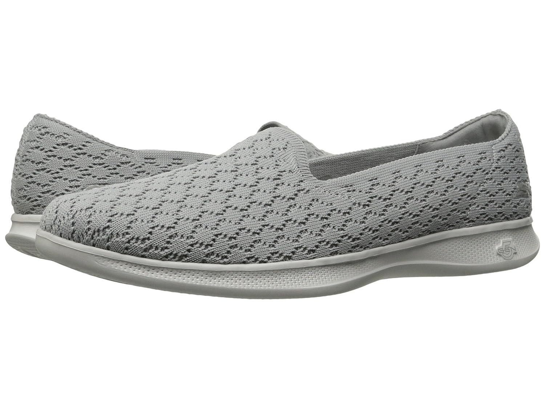 Skechers Women's Go Step Lite-Indulge Loafer Flat B07CQZCNBC 8.5 B(M) US|Lite-gray