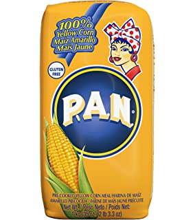 Amazon.com : P.A.N. White Corn Meal - Pre-cooked Gluten Free ...