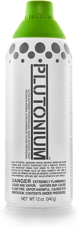 Plutonium Paint Professional Grade Aerosol Spray Paint, 12-Ounce, Vegan Green