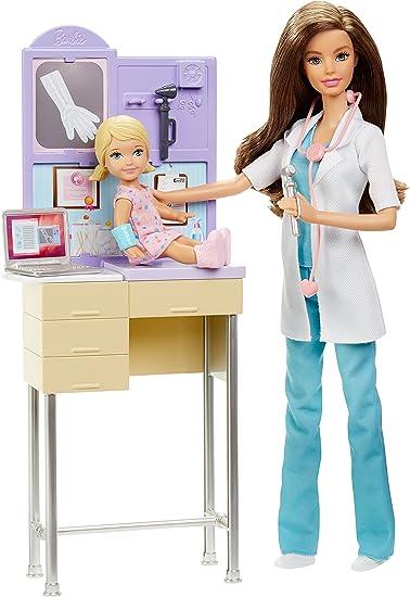 Barbie Mattel DKJ12 pediatra, Set con Accessori: Amazon.it: Giochi
