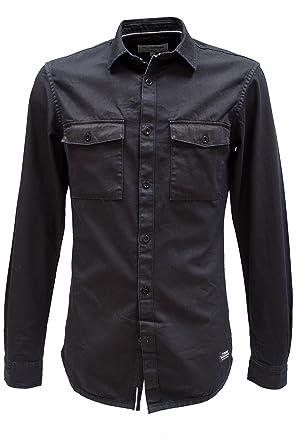 TOM TAILOR Denim Herren Coated Jeans-Hemd Dunkelblau in S  Amazon.de   Bekleidung 2212aa3122