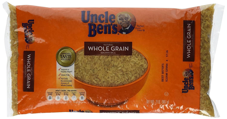 Amazon.com : UNCLE BEN\'S Whole Grain Brown Rice Bag, 2lb : Brown ...