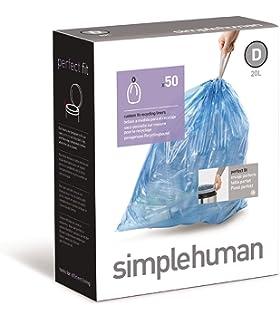 E Pkg 20 Simplehuman 10 Gal Trash Bags 38 Ltr