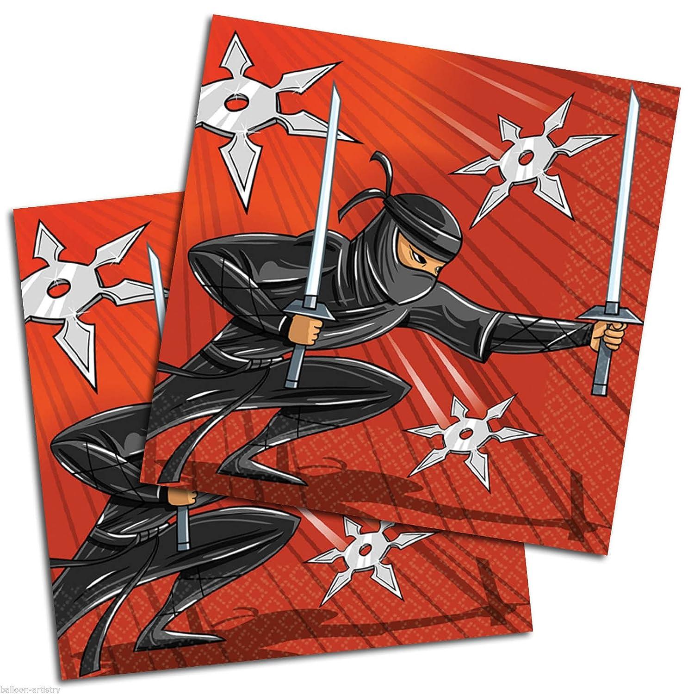 Ninja Warrior Party Servilletas de Papel (, 16 Unidades ...