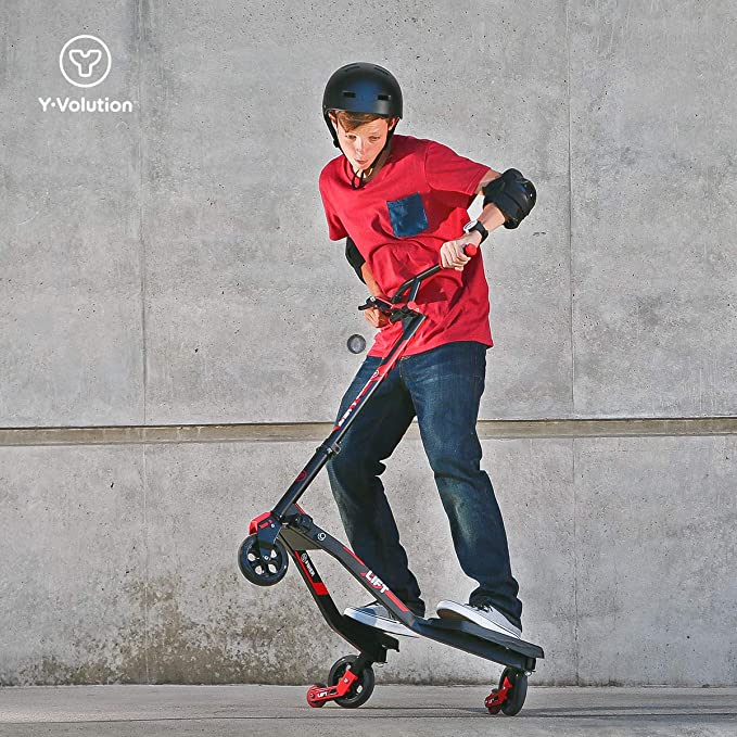 Yvolution Y Fliker Lift | Swing Wiggle Carving Scooter for Kids Age 7+ and Adults