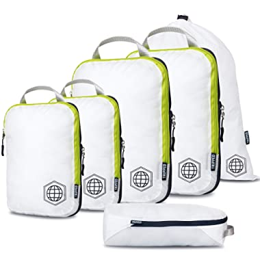 Compression Packing Cubes for Travel - Luggage and Backpack Organizer Packaging Cubes for Clothes
