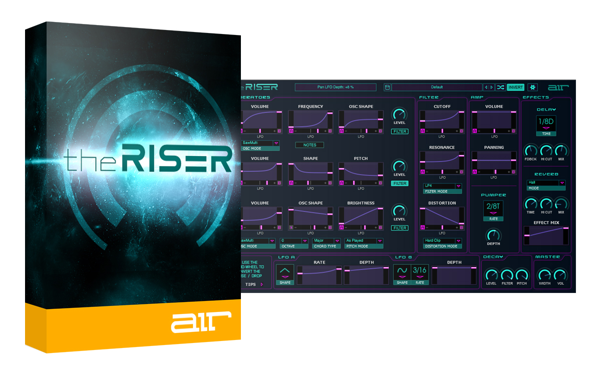 theRiser - Synth-based Transition Designer [Download] by AIRMUSICTECH