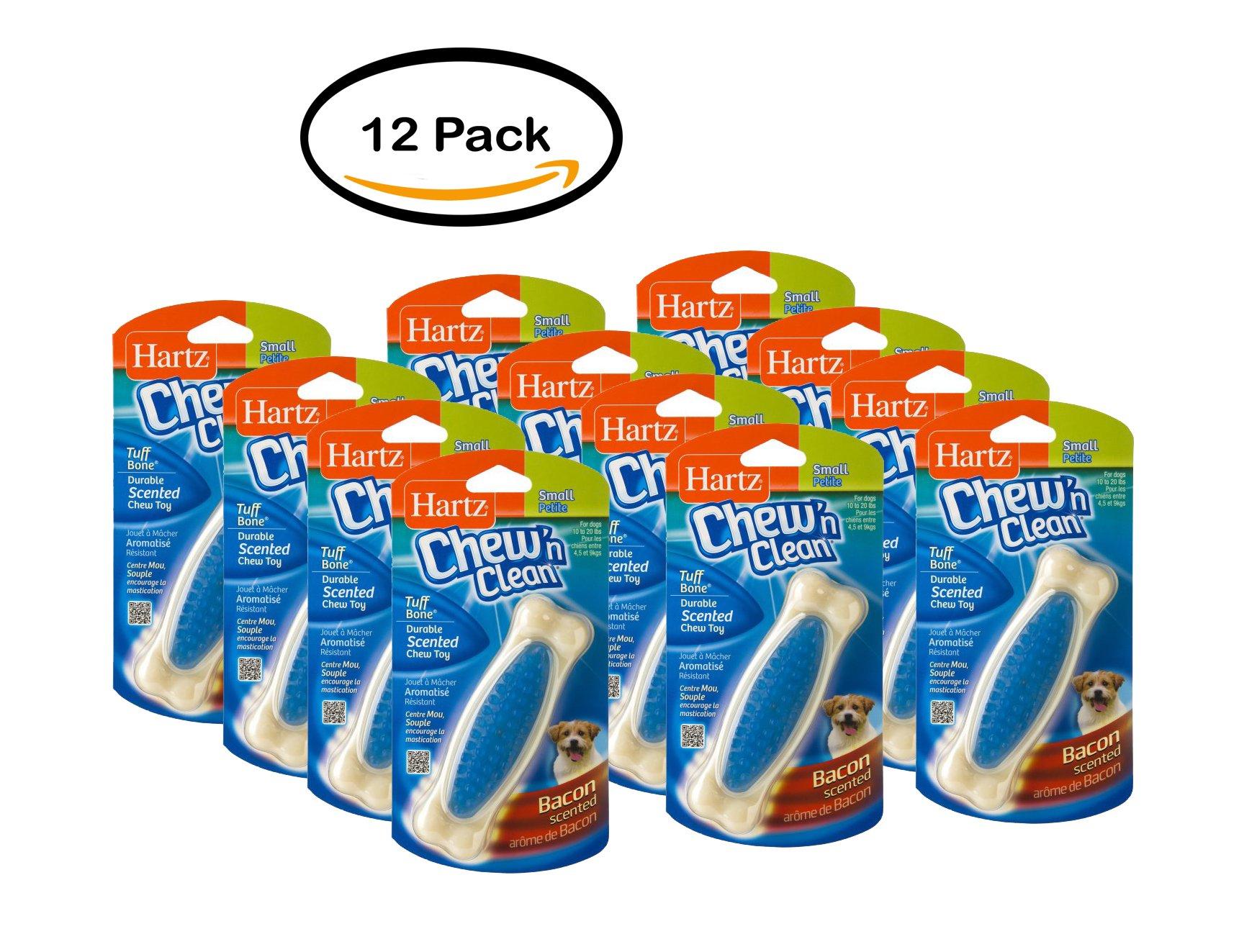 PACK OF 12 - Hartz: Chew 'n Clean Small Nylon Bone Chicken Flavor Dog Toy, 1.9 Oz