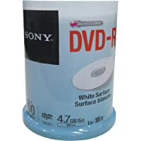 Sony DVD Printable Blanks with White Surface -Jar Pack of 100