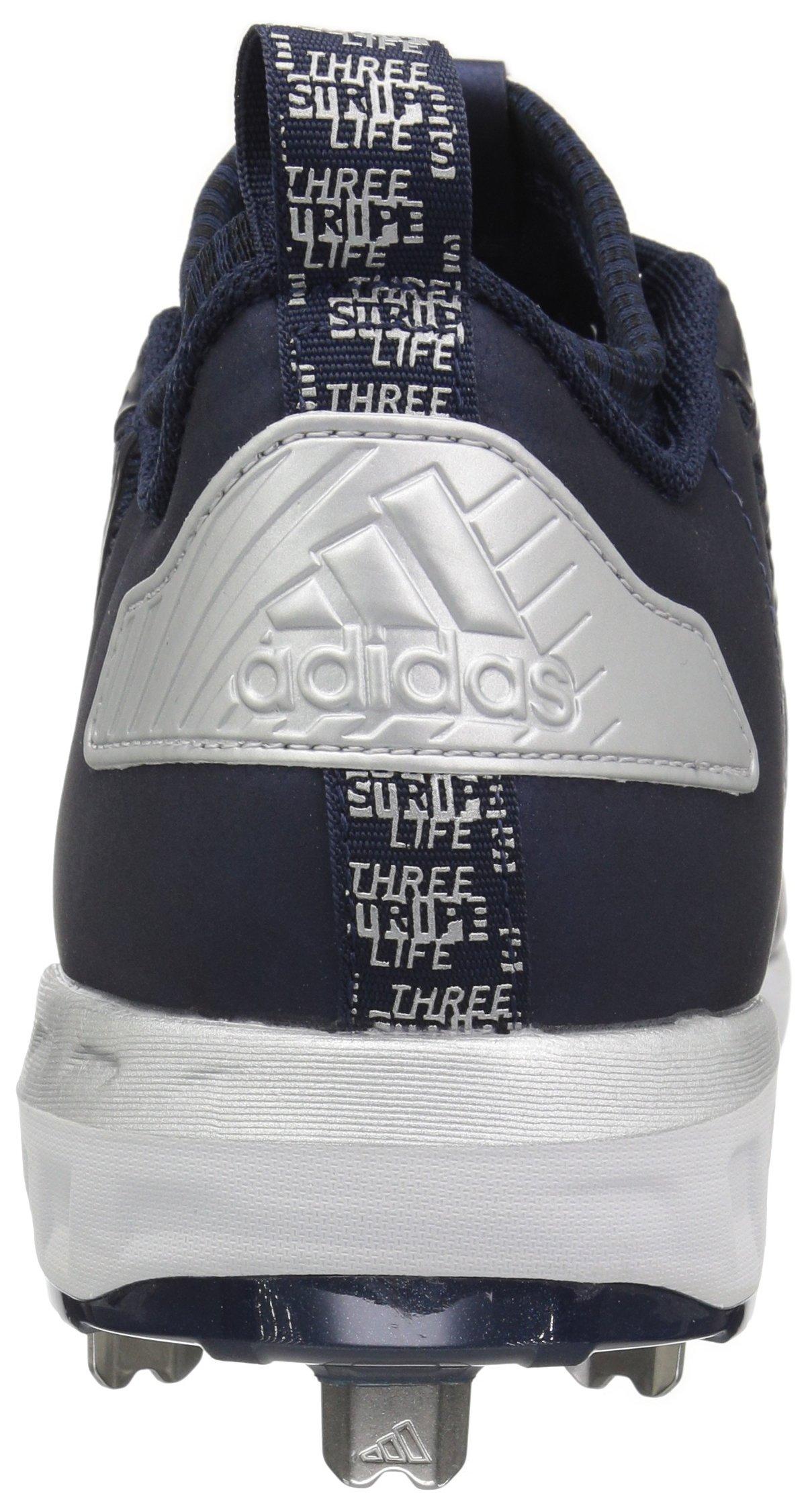 adidas Men's Freak X Carbon Mid Baseball Shoe, Collegiate Navy/White/Metallic Silver, 8 Medium US by adidas (Image #2)