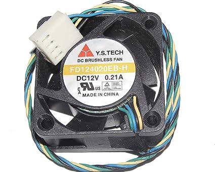 Y.S Tech FD124020EB fan DC12V 0.12A 40*40*20mm