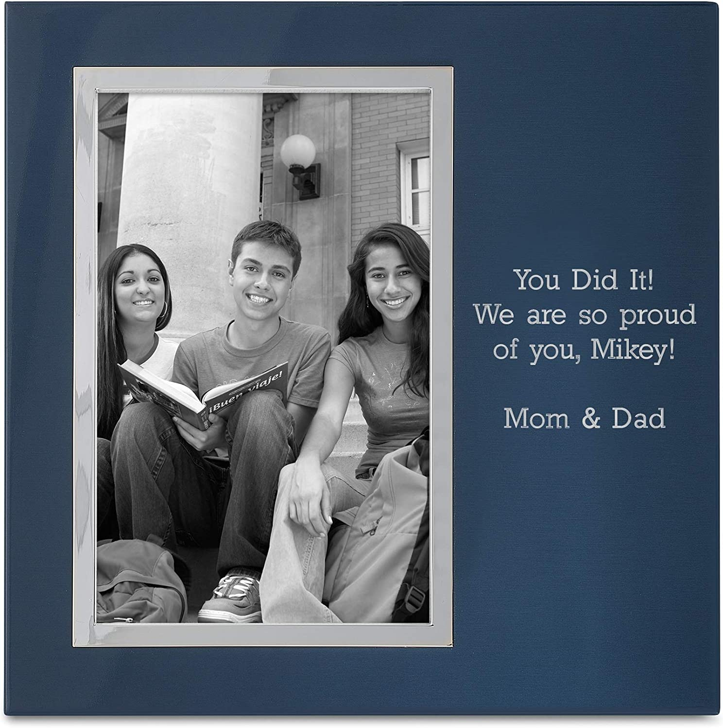 Amazon Com Things Remembered Personalized Blue Uptown 4 X 6 Portrait Frame With Engraving Included Home Kitchen