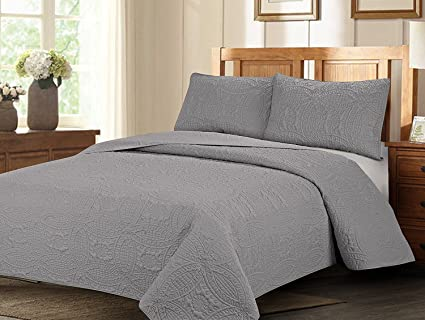 Amazon Royal Home Decor 3 Pc Bedspread Set With Geometry
