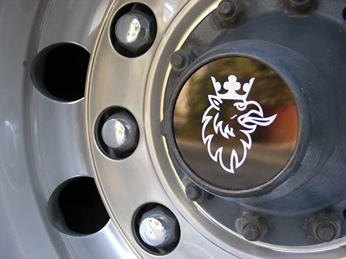 Juego de 2 Piezas de tapacubos Griffin de Aluminio Oxidado Grabado para Todos los Camiones Serie camión Accesorios de decoración: Amazon.es: Coche y moto