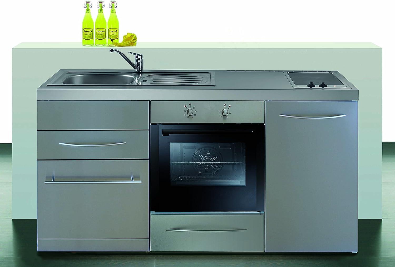 Mini cocina Premium Line acero inoxidable - con horno{170} MPBGSES ...