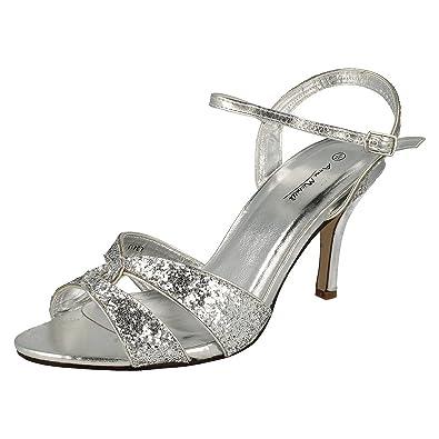 Viele Arten Von Günstigem Preis Damen Glitzer-Sandale mit Absatz (37 EU) (Gold) Anne Michelle Blättern Günstigen Preis BokbC5