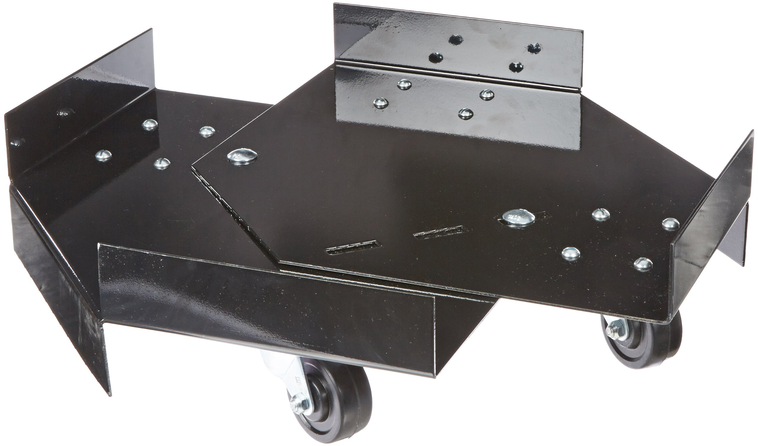 UltraTech 0417 Steel Dolly, 800 lbs Capacity, 26-1/2'' Length x 26-1/2'' Width x 5'' Height, Black, For Ultra-Hard Top P1 Plus Spill Pallet and Ultra-Spill Collectors
