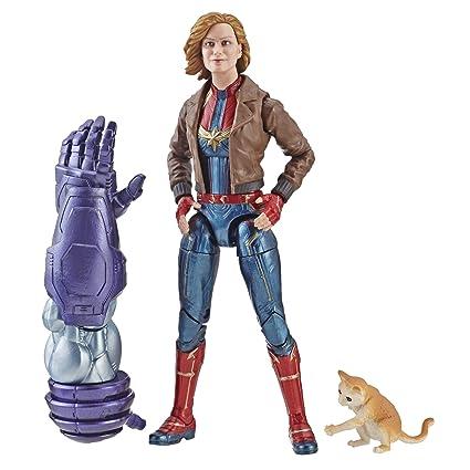 Marvel Capitán Marvel Legends Capitán Marvel en Bomber Chaqueta ...