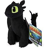 "Dreamworks Dragons, Toothless 8"" Premium Plush Dragon, for Kids Aged 4 & Up"