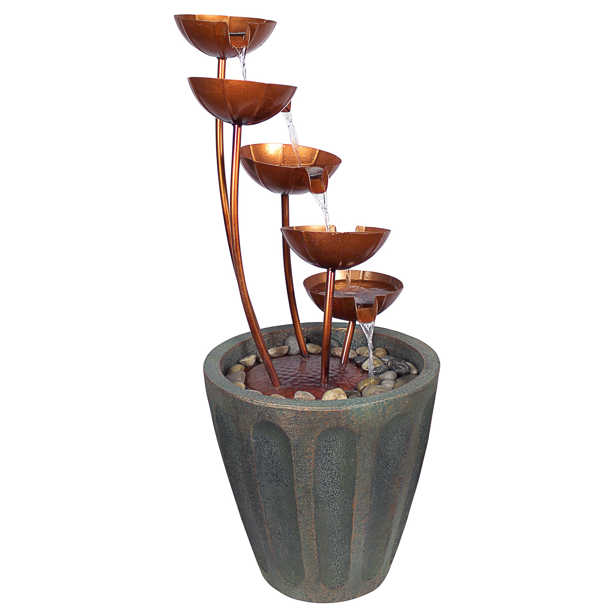 Design Toscano Copper Falls Cascading Garden Fountain by Design Toscano