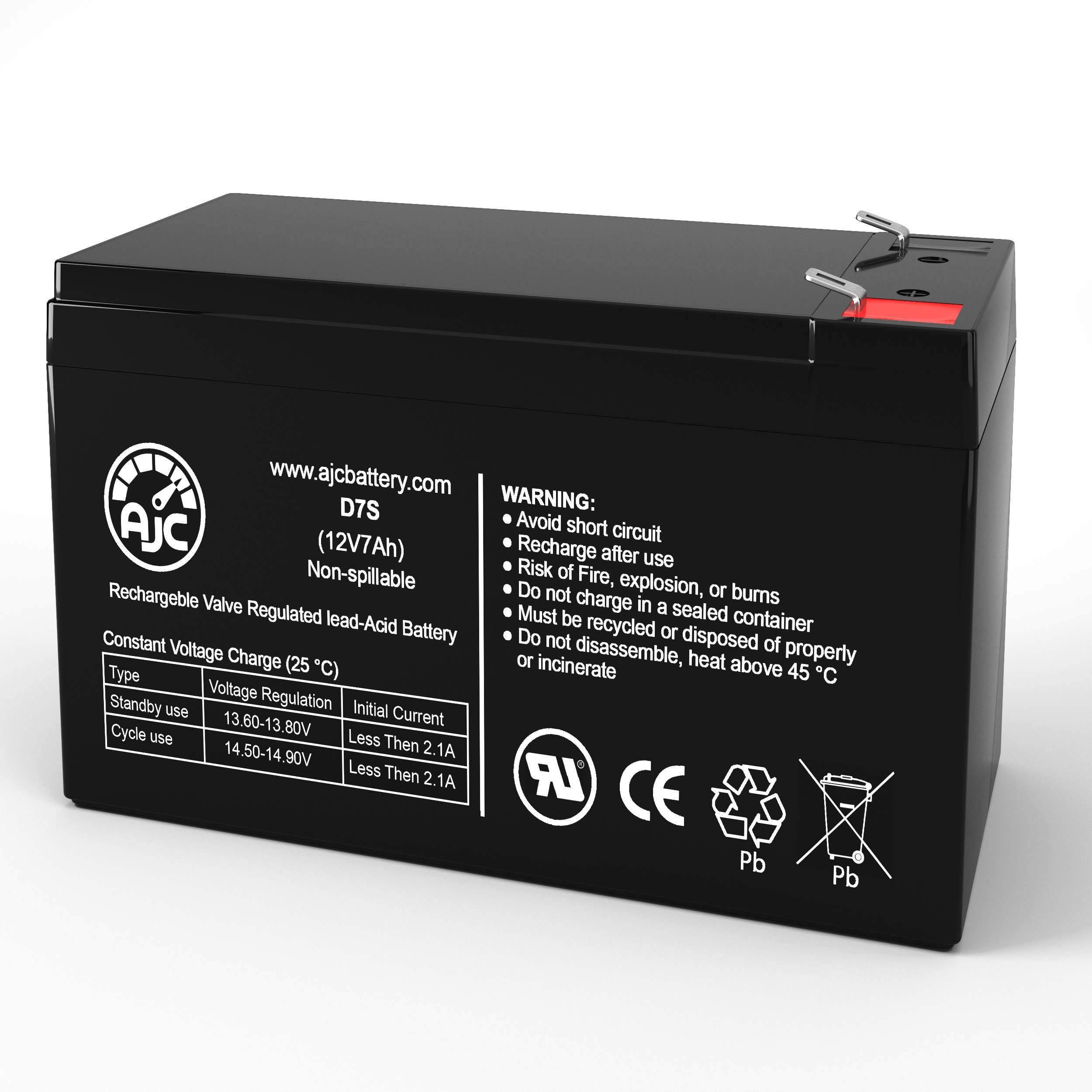 Powercom Vanguard VGD-6000 VGD-6000 RM 12V 7Ah UPS Battery This is an AJC Brand Replacement
