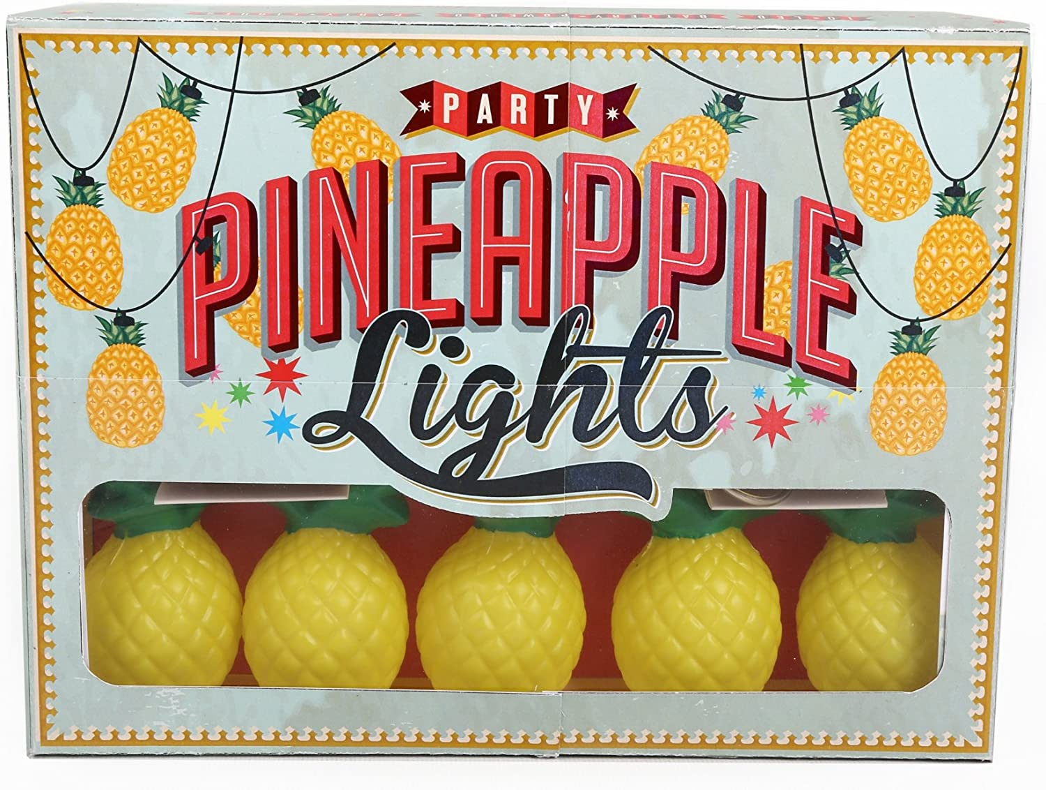 10 LED Pineapple Light Up Garland String 1.5M Fairy Lights Party Home Decor 1.5M