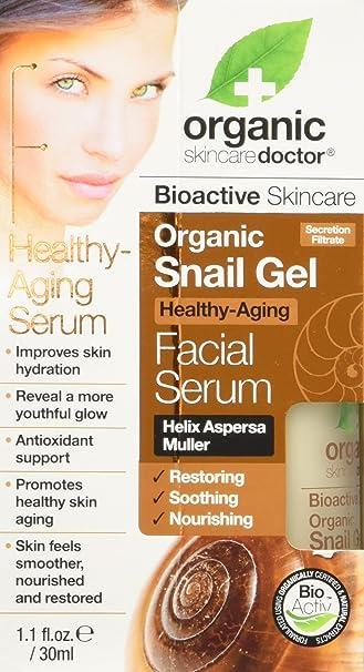 Amazon.com: Organic Doctor Organic Snail Gel Facial Serum, 1.1 fl.oz ...