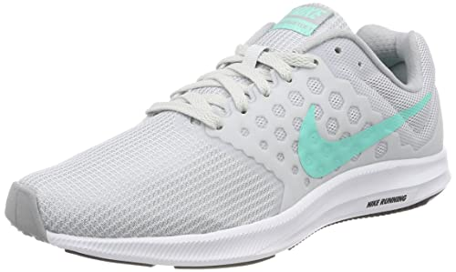 bedae5f1c3d60 Image Unavailable. Image not available for. Colour  Nike Women s  Downshifter 7 Pure Platinum Hyper Turq Black Running Shoe ...