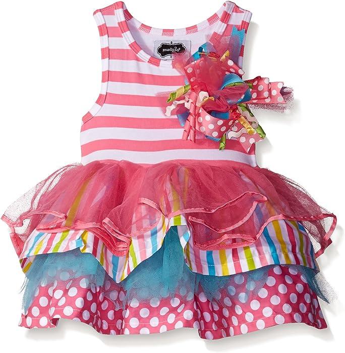 Mud Pie Little Girls Tiered Birthday Party Dress 9 12 Months