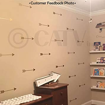 Set Of 27 Arrow Decal Stickers Tribal Arrows Wall Decal Vinyl Lettering  Wallpaper (Gold)