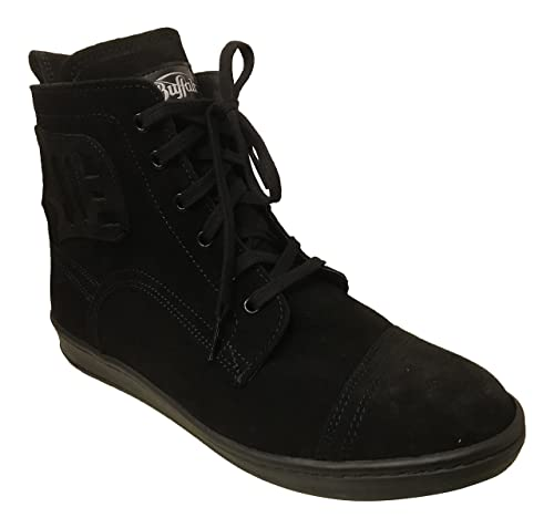 Buffalo - Zapatillas de Piel para Hombre Negro Negro, Color Negro, Talla 45: Amazon.es: Zapatos y complementos