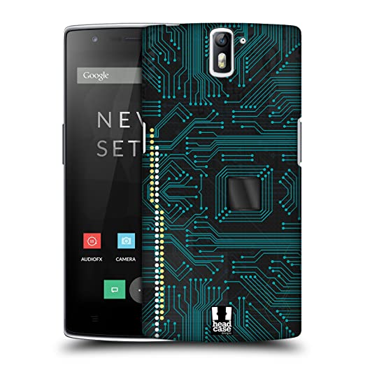 5 opinioni per Head Case Designs Black Circuit Boards Protective Snap-on Hard Back Case Cover