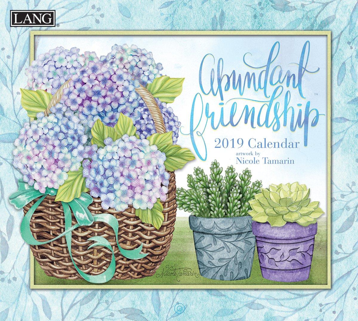 Lang Abundant Friendship 2019 Wall Calendar Office Wall Calendar (19991002005)