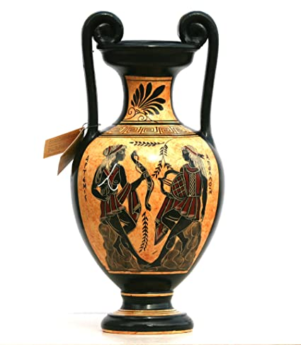 Amazon Greek Ceramic Amphora Jar Vase Pot Painting Goddess