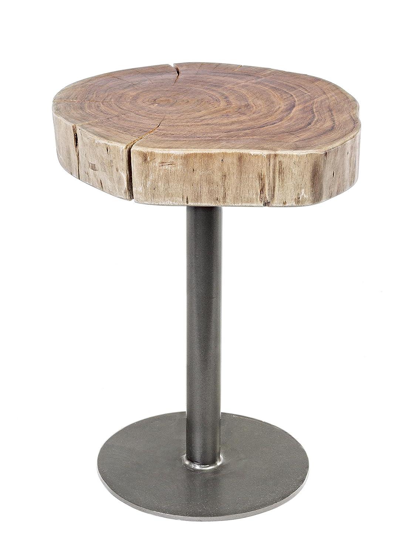 Bizzotto Benson Table D35 - bois - marron - 35 x 35 x 45 cm