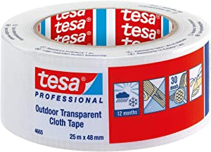 tesa Professional Duct Tape - Waterproof Clear Outdoor Gaffer Tape for Repairing, 48 mm x 25 m