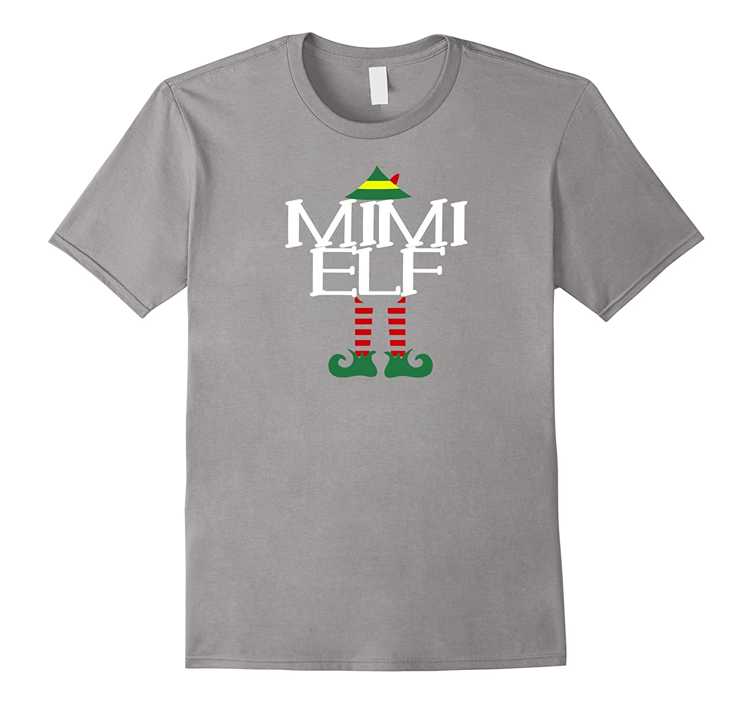 Mimi Grandma Elf Tshirt Funny Christmas Party Ugly-RT