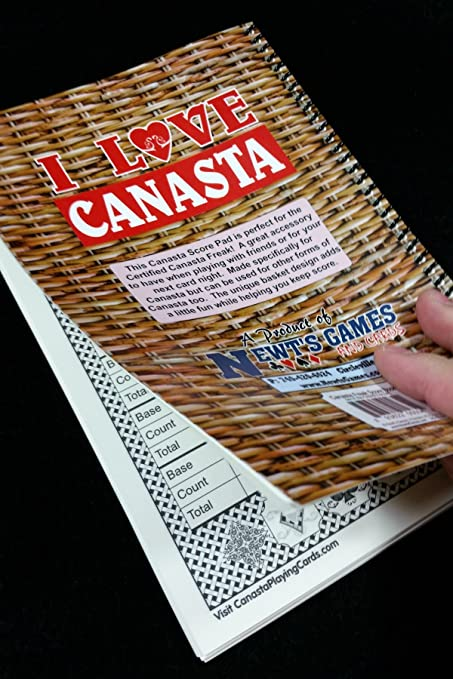 Amazon.com: Canasta Score Pad For The Certified Canasta Freak