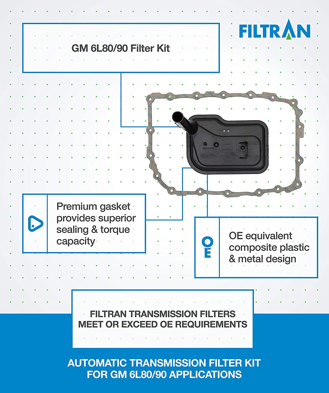 Amazon com: Filtran TFK108 GM 6L80/90 Filter Kit: Automotive